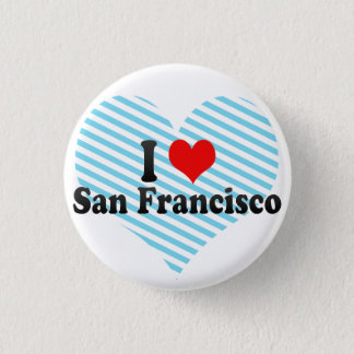 I Love San Francisco, United States 3 Cm Round Badge