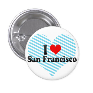 I Love San Francisco, United States 3 Cm Round Badge