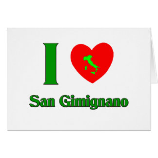 I Love San Gimignano Italy Card