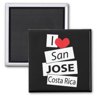 I Love San Jose Costa Rica Square Magnet
