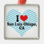 I Love San Luis Obispo,+CA Christmas Ornament