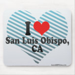 I Love San Luis Obispo,+CA Mousepads