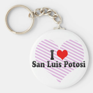 I Love San Luis Potosi, Mexico Basic Round Button Key Ring