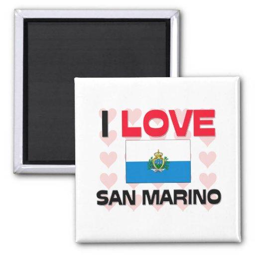 I Love San Marino Square Magnet