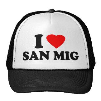 I Love San Mig Trucker Hats