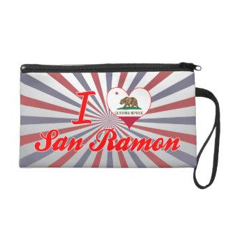 I Love San Ramon, California Wristlet Purses