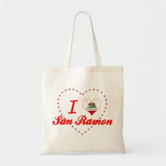 I Love San Ramon, California Tote Bags