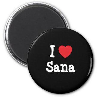 I love Sana heart T-Shirt Fridge Magnets