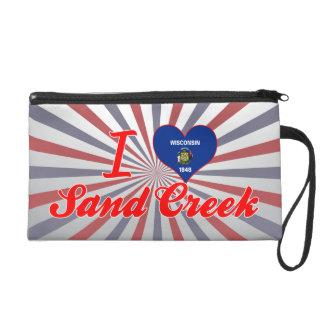 I Love Sand Creek, Wisconsin Wristlet Purse