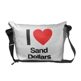 i love sand dollars courier bag