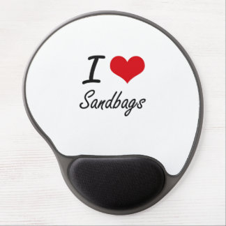 I Love Sandbags Gel Mouse Pad