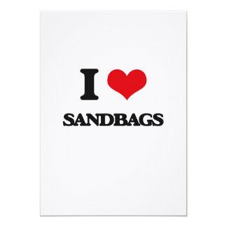I Love Sandbags 5x7 Paper Invitation Card