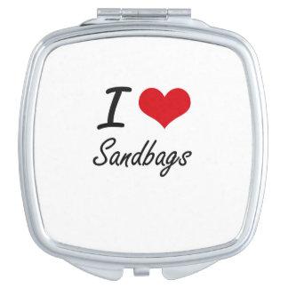 I Love Sandbags Makeup Mirrors