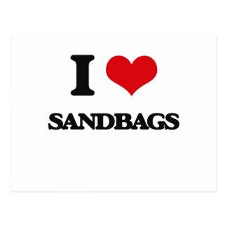 I Love Sandbags Postcard