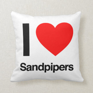 i love sandpipers pillow