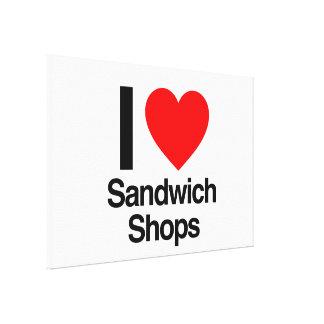 i love sandwich shops canvas prints