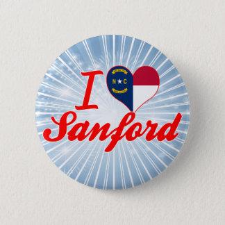I Love Sanford, North Carolina 6 Cm Round Badge