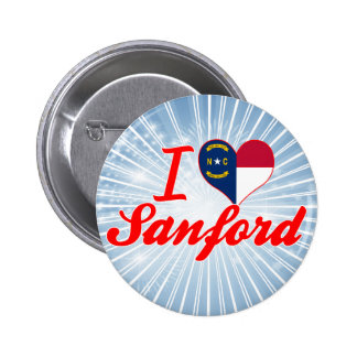 I Love Sanford, North Carolina 6 Cm Round Badge