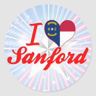 I Love Sanford, North Carolina Round Sticker