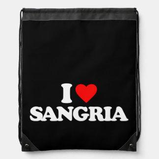 I LOVE SANGRIA DRAWSTRING BACKPACK
