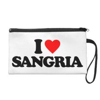 I LOVE SANGRIA WRISTLET CLUTCH