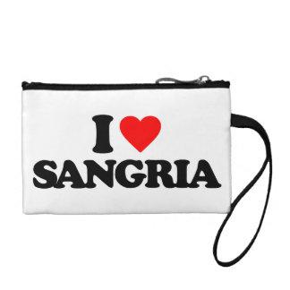 I LOVE SANGRIA COIN PURSES