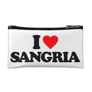 I LOVE SANGRIA MAKEUP BAGS