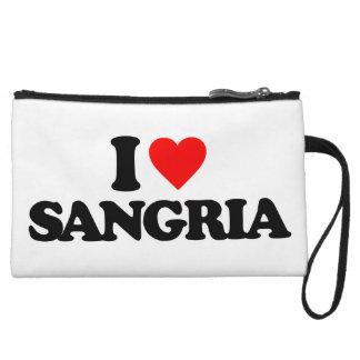 I LOVE SANGRIA WRISTLET PURSE