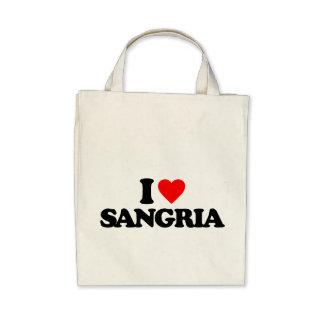 I LOVE SANGRIA CANVAS BAGS