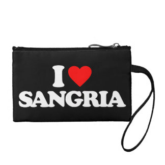 I LOVE SANGRIA COIN WALLETS