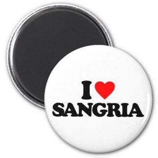 I LOVE SANGRIA MAGNET