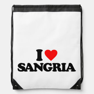 I LOVE SANGRIA DRAWSTRING BAGS