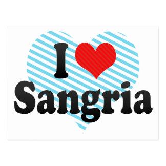 I Love Sangria Postcard