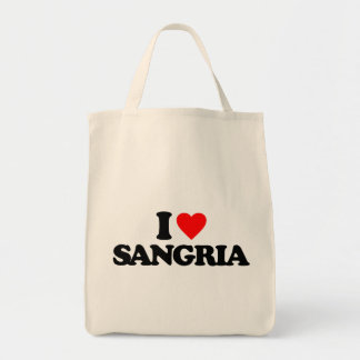I LOVE SANGRIA CANVAS BAGS