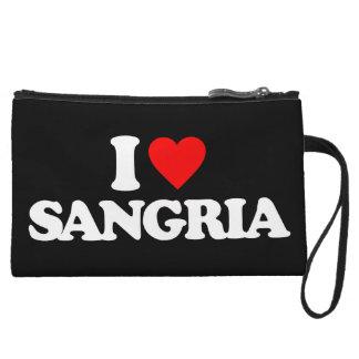 I LOVE SANGRIA WRISTLET CLUTCHES