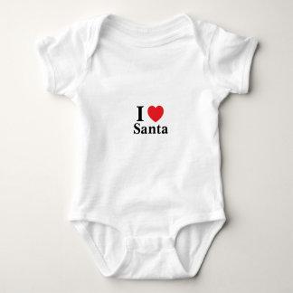 I Love Santa Baby Bodysuit