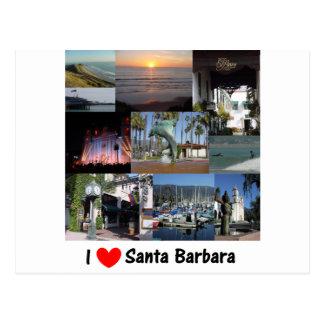 i love santa barbara png post cards