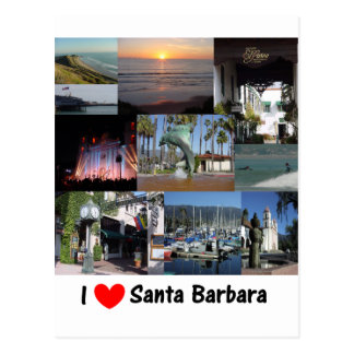 I Love Santa Barbara Postcard