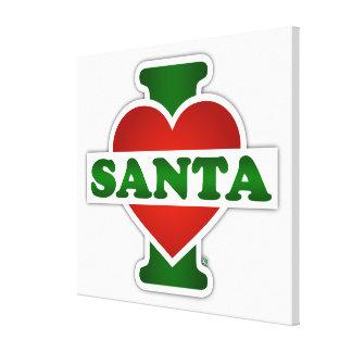 I Love Santa Canvas Print
