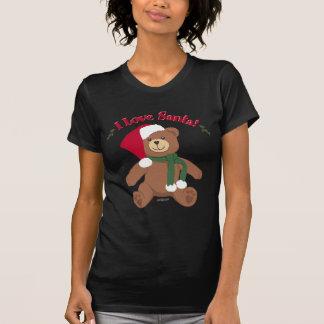 I Love Santa! Christmas Teddy Bear Tees