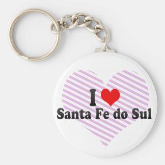 I Love Santa Fe do Sul, Brazil Keychain