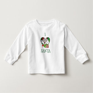 I love Santa girls tee