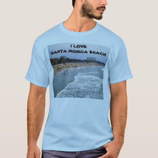 I LOVE SANTA MONICA BEACH tee