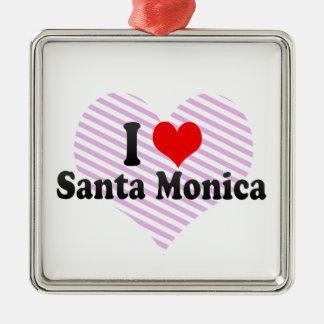 I Love Santa Monica, United States Christmas Ornament