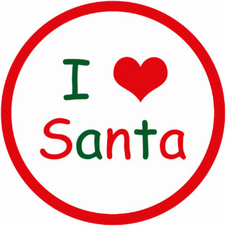 I Love Santa Cut Out