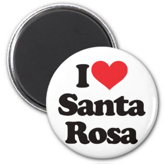 I Love Santa Rosa 6 Cm Round Magnet