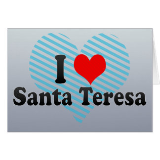 I Love Santa Teresa Venezuela Card