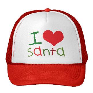 I Love Santa Trucker Hat