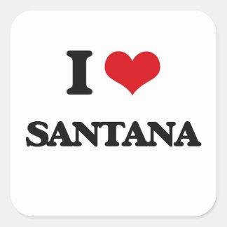 I Love Santana Square Sticker