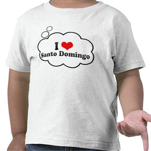 I Love Santo Domingo, Dominican Republic Tee Shirts
